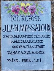 Jean Massaloux, mort à 31 ans d'une maladie contractée au front.
