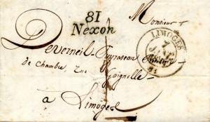 Nexon lettre 7 janv 1833