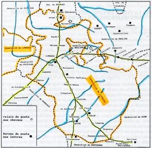 la poste en 1675