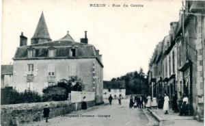 Nexon rue du centre champeau Terrasson 1930