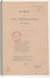 Hymne pour les ostensions de 1876