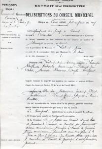delibération 5 oct 1918 pour monument US 1