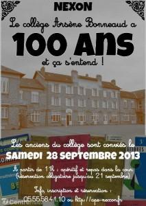 100 du collège affiche