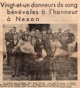 donneurs de sang mai 1962