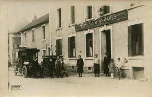 106 - COM - hôtel des Deux Gares 001-1 - P. Lombertie propr. (circa 1925) - Photothèque Paul Colmar