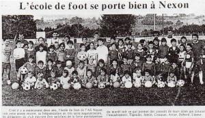 ecole de foot 1981 82