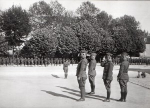 ceremonie place de la mairie 1918