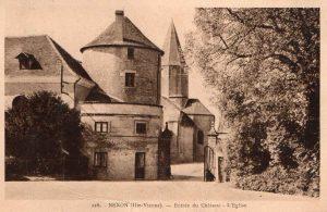 eglis vue du chateau sepia