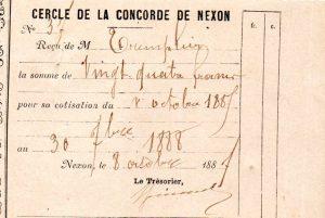 cotisation 1887