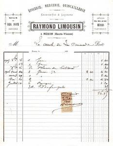 fournitures 1906